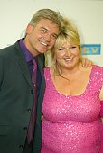 Presenters Fern Britton and Philip Schofield pose in the press room at the sixth annual 'British Soap Awards 2004' on May 8 2004 at BBC Television...