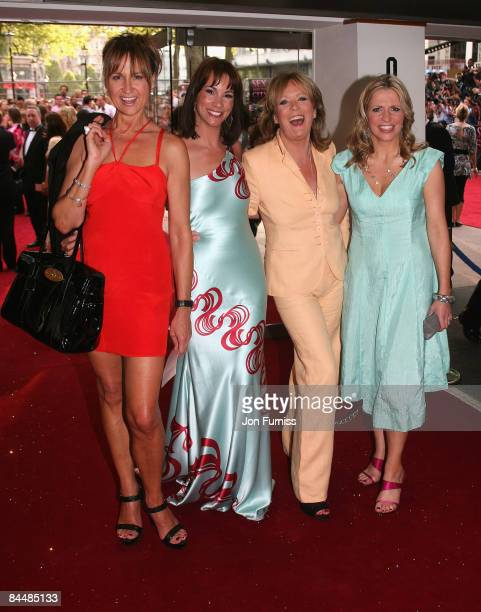 TV presenters from 'Loose Women' Carol McGriffin Andrea McLean Sherrie Hewson and Jackie Brambles attend the Sex And The City world premiere held at...