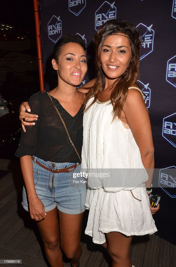 TV presenters Hedia Charni and Karima Charni attend the Axe Boat 2013 Launch Party at Cannes Harbourg on August 3, 2013 in Saint Tropez, France.