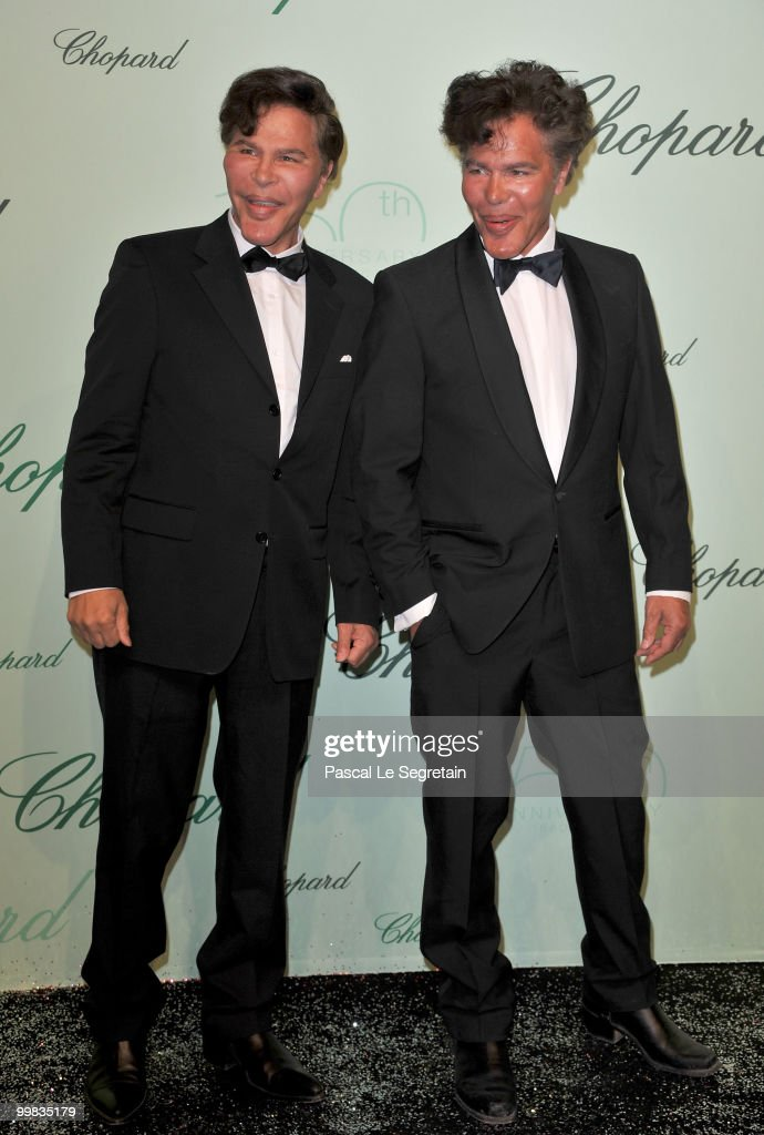 TV Presenters Igor and Grichka Bogdanoff attends the Chopard 150th Anniversary Party at Palm Beach, Pointe Croisette during the 63rd Annual Cannes Film Festival on May 17, 2010 in Cannes, France.