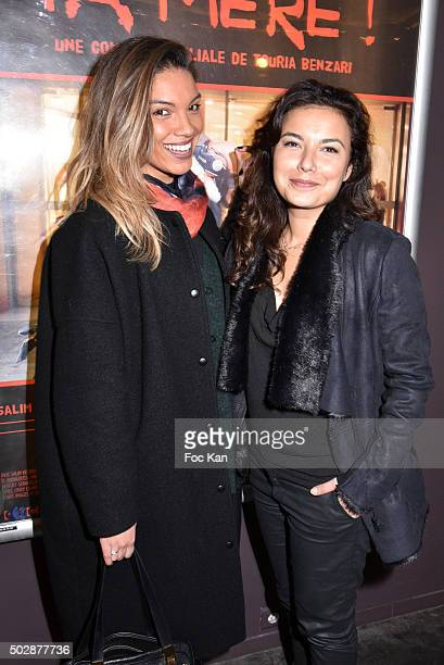 TV presenters Johanna Sansano and Anais Baydemir attend 'Ta Mere' Premiere at Cinema des Cineastes on December 29 2015 in Paris France