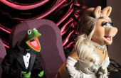 Presenters Kermit the Frog and Miss Piggy speak onstage during the 84th Annual Academy Awards held at the Hollywood Highland Center on February 26...
