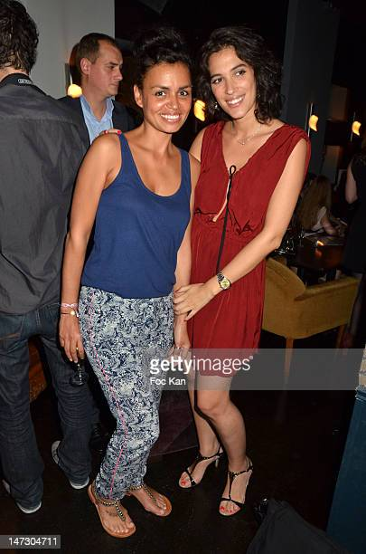 TV presenters Laurence Roustandjee and Laurie Cholewa attend the 'GlossyBox' 1st Anniversary Celebration at the Cha Cha Club on June 27 2012 in Paris...