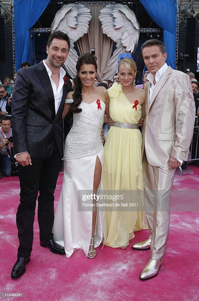 Presenters Marco Schreyl, Doris Golpashin, Mirjam Weichselbraun and Alfons Haider attend the 19th Life Ball at the Town Hall Town Hall on May 21, 2011 in Vienna, Austria.