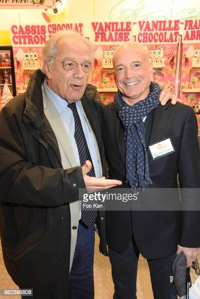 TV presenters Michel Chevalet and Louis BodinÊattend Foire du Trone Auction Launch Party to benefit 'Les Petits Princes' Children Care Association at...