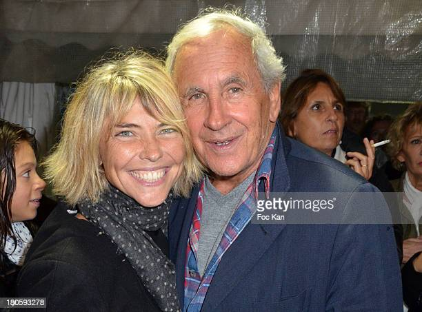 TV presenters Nathalie Vincent and Patrice Laffont attend 'La Tele Chante' Party during La Fete A Neu Neu At La Porte De La Muette on September 14...