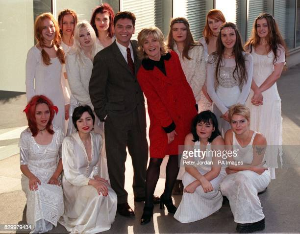 TV Presenters phillip schofield and Anthea Turner with The Medieval Babes during a photocall in London today to launch Happy New Year Live from...