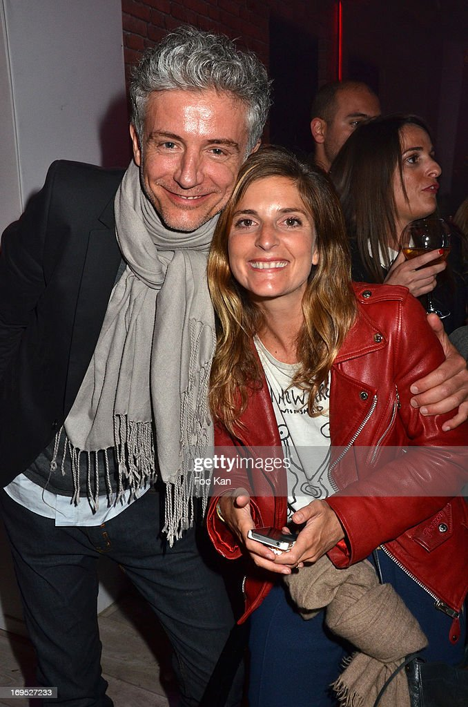 TV presenters Pierre Zeni and Helene Verbois attend The Queer Film Awards 2013 Cocktail at Terrazza Martini - The 66th Annual Cannes Film Festival on May 26, 2013 in Cannes, France.