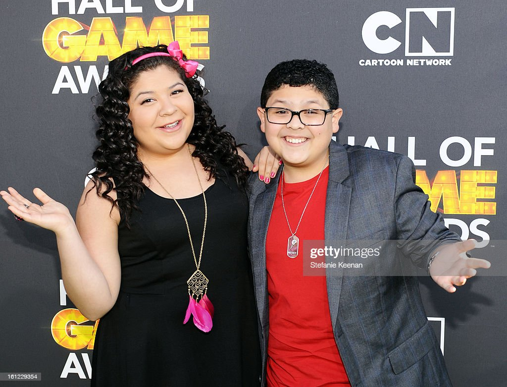 Presenters Raini Rodriguez and Rico Rodriguez attend the Third Annual Hall of Game Awards hosted by Cartoon Network at Barker Hangar on February 9, 2013 in Santa Monica, California. 23270_002_SK_0675.JPG