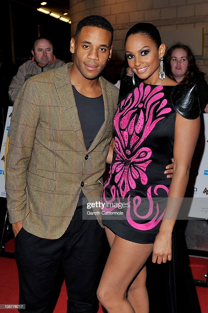 Presenters Reggie Yates and Alesha Dixon arrive for the MOBO Awards 2010 at the Echo Arena on October 20 2010 in Liverpool England