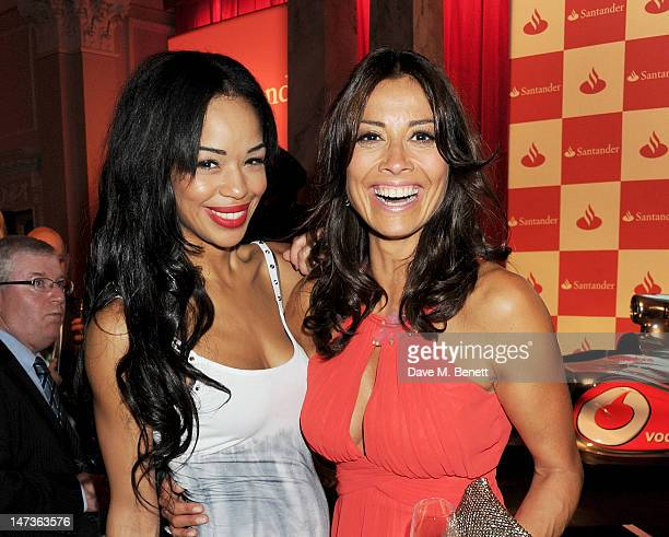 Presenters Sarah Jane Crawford and Melanie Sykes attend the launch of the London Grand Prix by Santander at the Royal Automobile Club on June 28 2012...