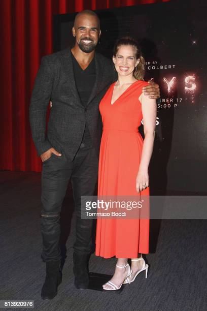 Presenters Shemar Moore and Anna Chlumsky attend the 69th Emmy Awards Nominations Announcement at Saban Media Center on July 13 2017 in North...