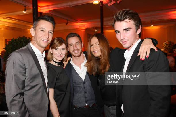 TV presenters Stephane Jobert Anabelle Milot David Lantin from M6 and W9 Karine Arsene and actor James Millot attend 'Gala D'Enfance Majuscule 2017'...