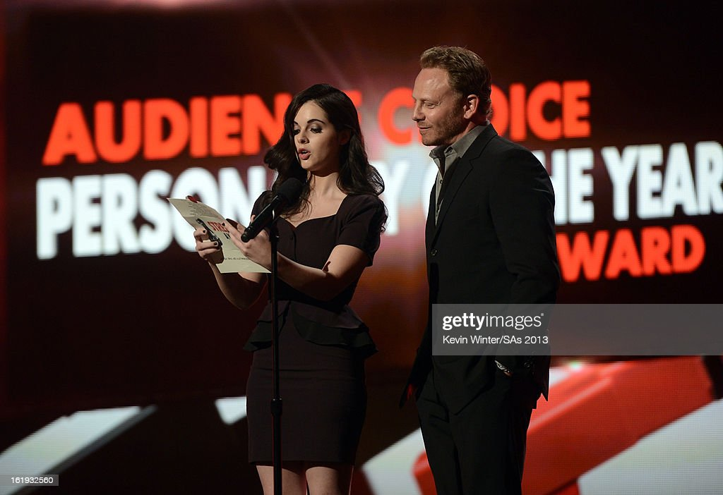 Presenters Vanessa Marano and Ian Ziering speak onstage at the 3rd Annual Streamy Awards at Hollywood Palladium on February 17, 2013 in Hollywood, California.