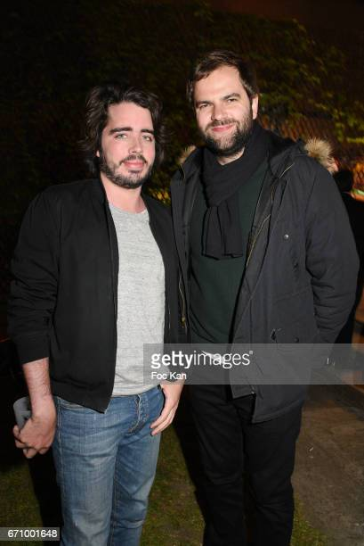 TV presenters/comedians Eric Metzger and Quentin Margot attend 'Tonic Follies' Villa Schweppes Before Cannes Festival Party at Foundation Mona...