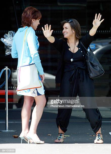 TV presenters/novelists and both good friends Kathy Lette and Lisa Wilkinson sighted at the Woolloomooloo Finger Wharf on December 22 2008 in Sydney...
