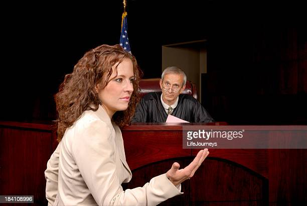 Presenting Her Case To The Judge