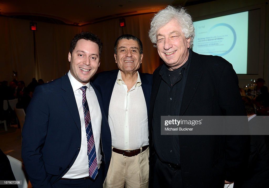 Presenting Sponsor Haim Saban and Producer Avi Lerner attend the 7th Annual March of Dimes Celebration of Babies, a Hollywood Luncheon, at the Beverly Hills Hotel on December 7, 2012 in Beverly Hills, California.