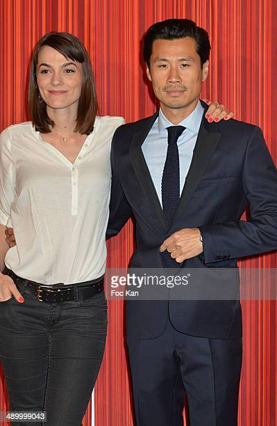 TV presentrers Romane Portailand Frederic Chau attend the 4th Paris Chinese Film Festival Opening Ceremony at Cinema Gaumont Marignan on May 12 2014...