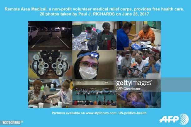 AFP presents a photo essay of 50 images by photographer Paul J RICHARDS on the Remote Area Medical a nonprofit volunteer medical relief corps that...