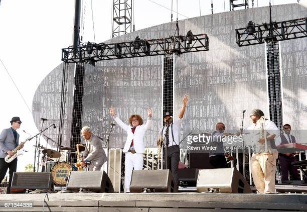 Preservation Hall Jazz Band performs on the Coachella Stage during day 1 of the 2017 Coachella Valley Music Arts Festival at the Empire Polo Club on...