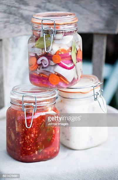 Preserves in jars