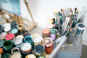 Preserving jars with oil paint