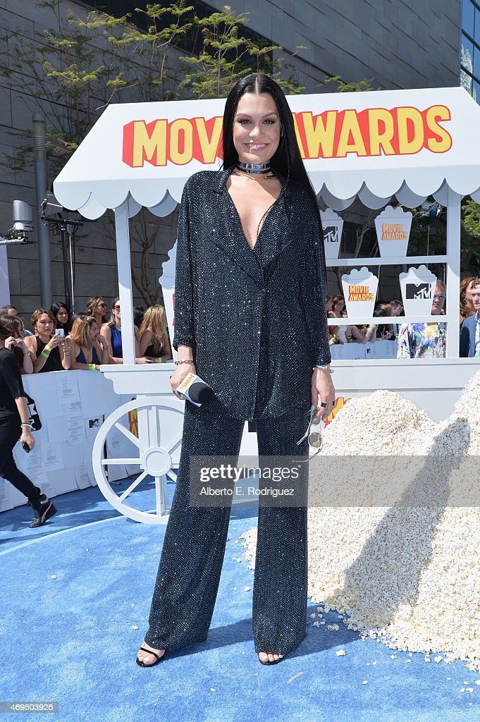 Pre-Show host/recording artist Jessie J attends The 2015 MTV Movie Awards at Nokia Theatre L.A. Live on April 12, 2015 in Los Angeles, California.