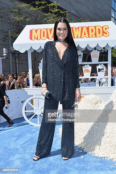 PreShow host/recording artist Jessie J attends The 2015 MTV Movie Awards at Nokia Theatre LA Live on April 12 2015 in Los Angeles California