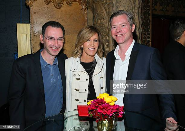President ABC Entertainment Group Paul Lee actress Felicity Huffman and executive producer Michael McDonald attend the premiere of ABC's 'American...