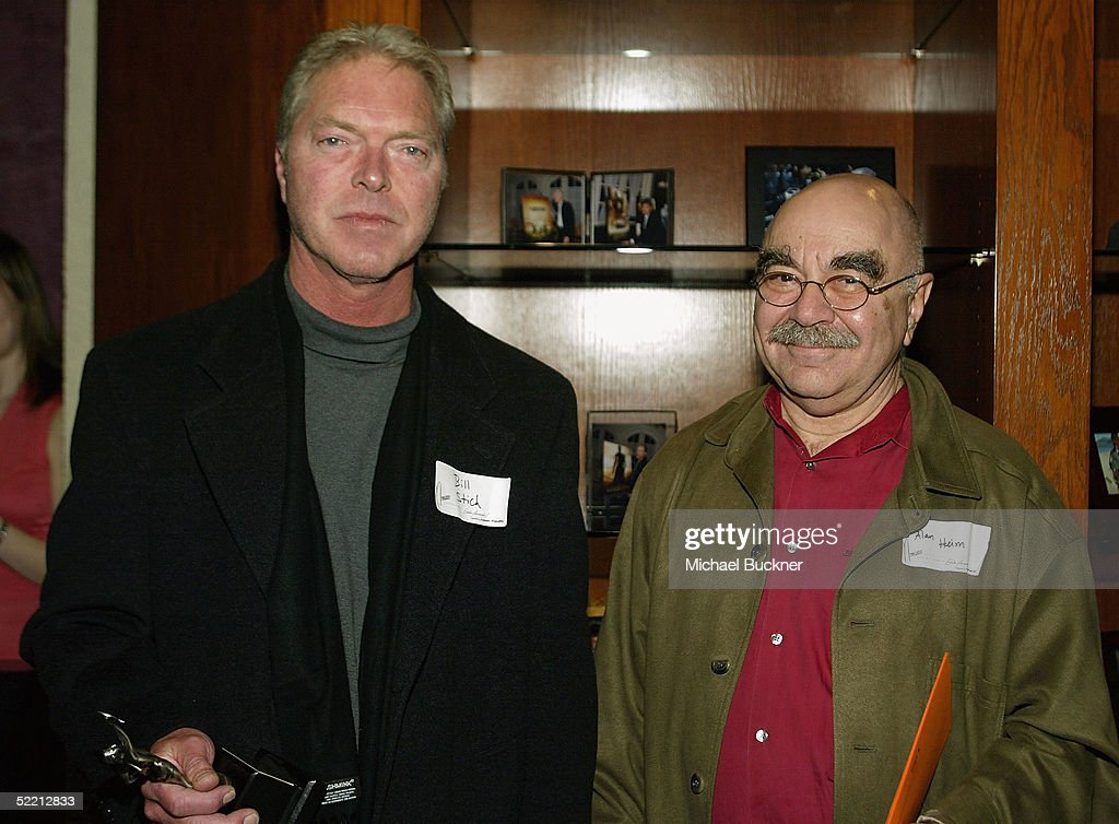 President, A.C.E. Alan Heim hands editor William Stitch the nomination for Best Edited One-Hour Series for Television for 'The Sopranos; Long Term Parking' at the nominee reception for the American Cinema Editors Eddie Awards on February 17, 2005 at the Kodak Atrium in Hollywood, California.
