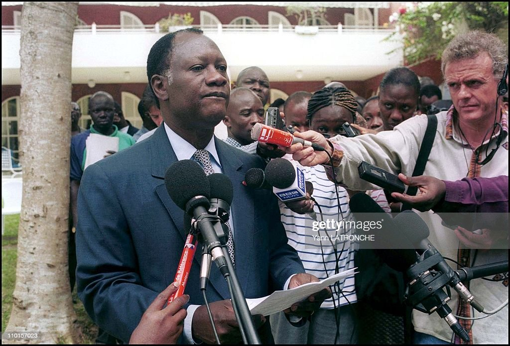 President AD Ouattara After defeat of his application in Abidjan Cote d'Ivoire on October 07 2000 A D Ouattara