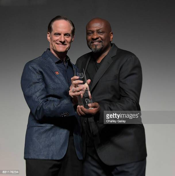 President AIDS Healthcare Foundation Michael Weinstein and Founder In The Meantime Men's Group Jeffrey C King attend AIDS Healthcare Foundation...