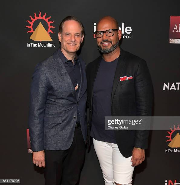 President AIDS Healthcare Foundation Michael Weinstein and Founder Native Son Emil Wilbekin attend AIDS Healthcare Foundation iNHale Entertainment...