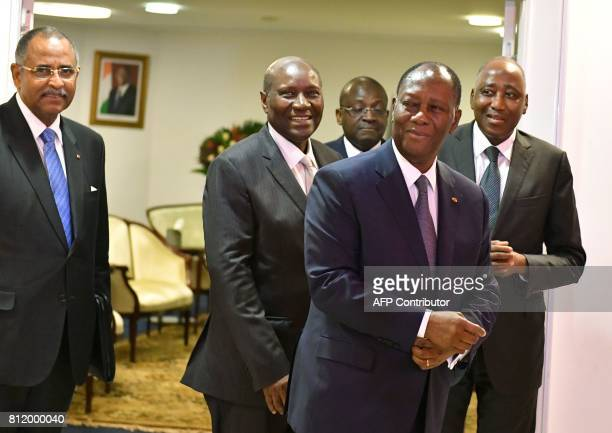 President Alassane Ouattara of Côte d'Ivoire Vice President Daniel Kablan Duncan Prime Minister Amadou Gon Coulibaly and The Secretary General of the...