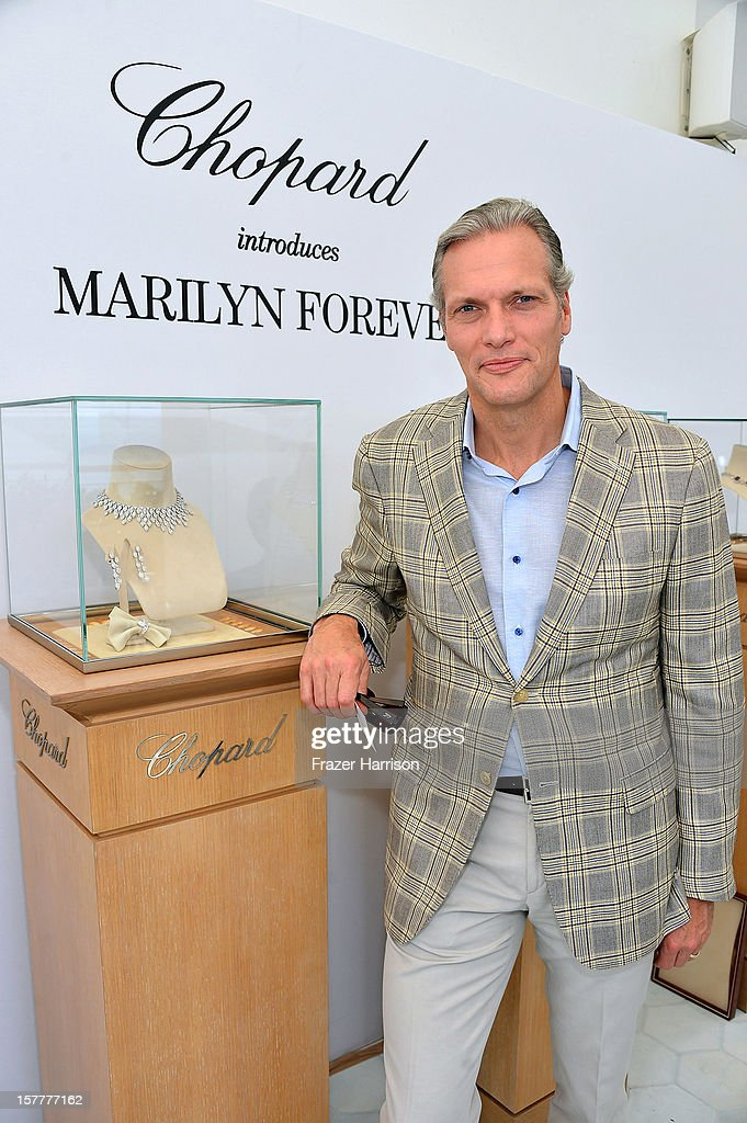 President and CEO at Chopard U.S. Marc Hruschka attends the Chopard and W Magazine 'Marilyn Forever' exhibition at Soho Beach House on December 6, 2012 during Art Basel Miami in Miami Beach, Florida.