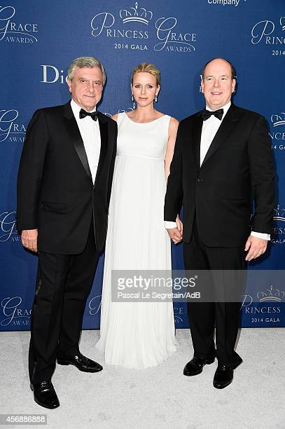 President and CEO Christian Dior Couture Sidney Toledano Her Serene Highness Princess Charlene of Monaco and His Serene Highness Prince Albert II of...