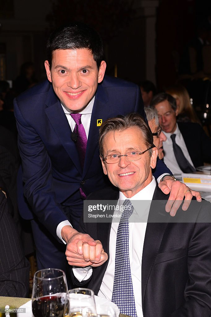 President and CEO <a gi-track='captionPersonalityLinkClicked' href=/galleries/search?phrase=David+Miliband&family=editorial&specificpeople=206702 ng-click='$event.stopPropagation()'>David Miliband</a> (L) and ballet dancer and actor <a gi-track='captionPersonalityLinkClicked' href=/galleries/search?phrase=Mikhail+Baryshnikov&family=editorial&specificpeople=204507 ng-click='$event.stopPropagation()'>Mikhail Baryshnikov</a> attend the Annual Freedom Award Benefit Event hosted by International Rescue Committee on November 5, 2014 in New York City.