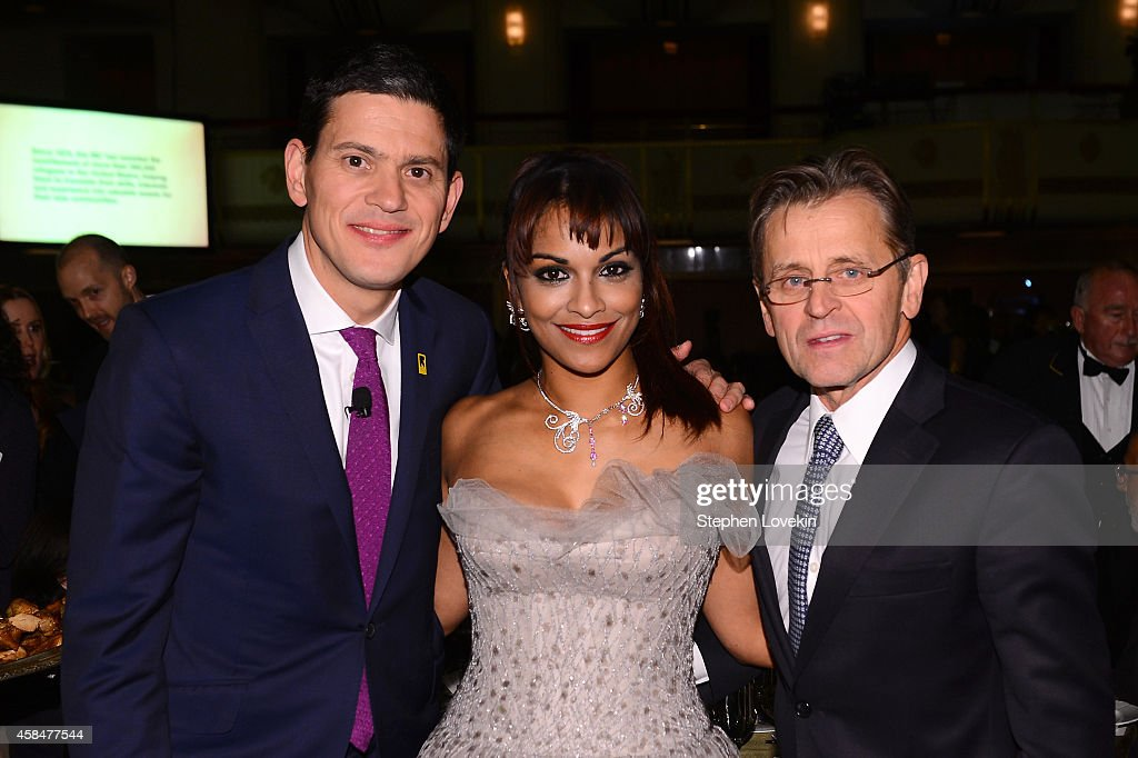 IRC President and CEO <a gi-track='captionPersonalityLinkClicked' href=/galleries/search?phrase=David+Miliband&family=editorial&specificpeople=206702 ng-click='$event.stopPropagation()'>David Miliband</a>, opera singer Danielle de Niese, and ballet dancer and actor <a gi-track='captionPersonalityLinkClicked' href=/galleries/search?phrase=Mikhail+Baryshnikov&family=editorial&specificpeople=204507 ng-click='$event.stopPropagation()'>Mikhail Baryshnikov</a> attend the Annual Freedom Award Benefit Event hosted by International Rescue Committee on November 5, 2014 in New York City.