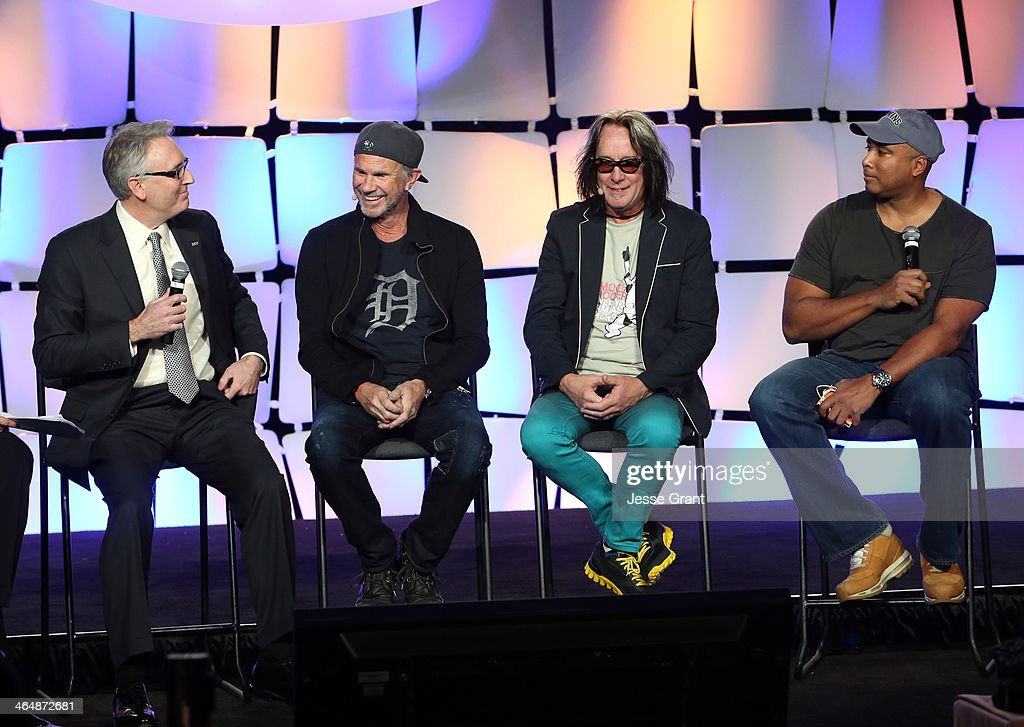 President and CEO Joe Lamond, Drummer Chad Smith, recording artist Todd Rundgren and Baseball player Bernie Williams attend the 2014 National Association of Music Merchants show at the Anaheim Convention Center on January 24, 2014 in Anaheim, California.