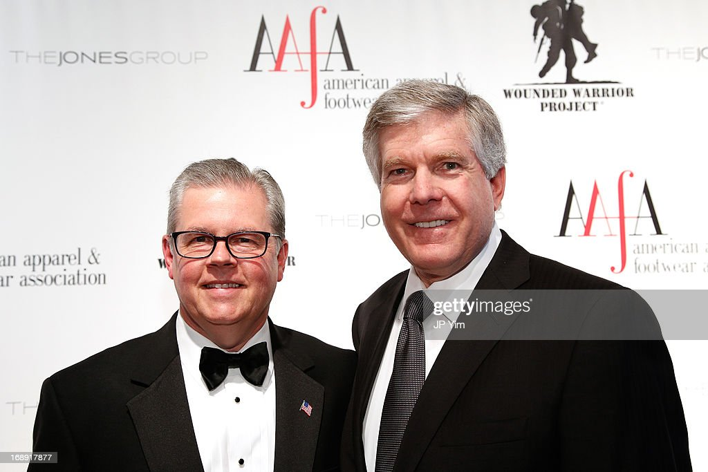 President and CEO Kevin M. Burke (L) and and guest attend the 35th Annual American Image Awards at the Intrepid Sea-Air-Space Museum on May 16, 2013 in New York City.