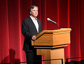 President and CEO Mark Greenberg introduces the film at the 'Under The Gun' LA premiere featuring Katie Couric and Stephanie Soechtig at Samuel...