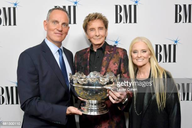 BMI President and CEO Michael O'Neill 2017 BMI Icon Award recipient Barry Manilow and BMI vice president and general manager writer/publisher...