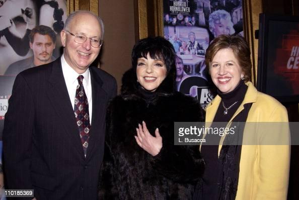 President and CEO Nick Davatzes Liza Minnelli and A E Executive Vice President Abbe Raven
