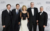 President and CEO of AFI Bob Gazzale President and Head of programming for TBS and TNT Michael Wright honoree Jane Fonda Sir Howard Stringer AFI...
