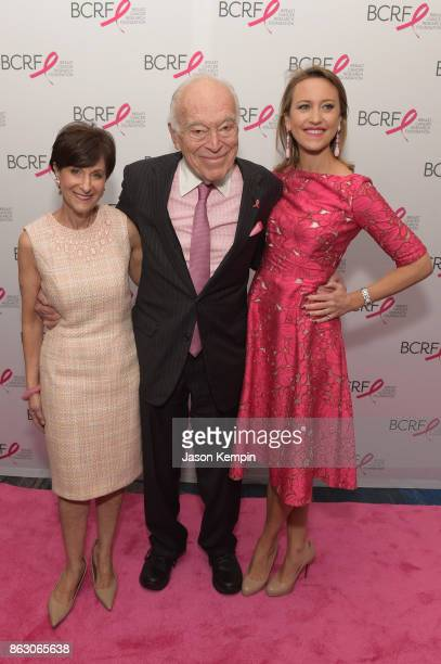 President and CEO of BCRF Myra Biblowit BCRF Board CoChairman Leonard A Lauder and Kinga Lampert BCRF CoChair arrive at the Breast Cancer Research...