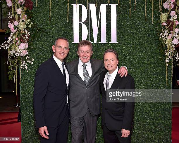 President and CEO of BMI Mike O'Neill SingerSongwriter Bill Anderson and Vice President of WriterPublisher Relations Jody Williams attends the 64th...