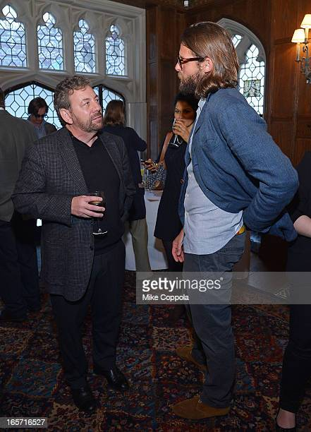 President and CEO of Cablevision Systems Corporation James Dolan and David de Rothschild attend the 'KonTiki' Celebration Luncheon at Explorers Club...