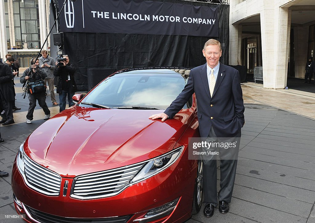 President and CEO of Ford Motor Company <a gi-track='captionPersonalityLinkClicked' href=/galleries/search?phrase=Alan+Mulally+-+Businessman&family=editorial&specificpeople=226958 ng-click='$event.stopPropagation()'>Alan Mulally</a> attends Ford Lincoln Unveils New Brand Direction Lincoln With Emmitt Smith at Lincoln Center on December 3, 2012 in New York City.