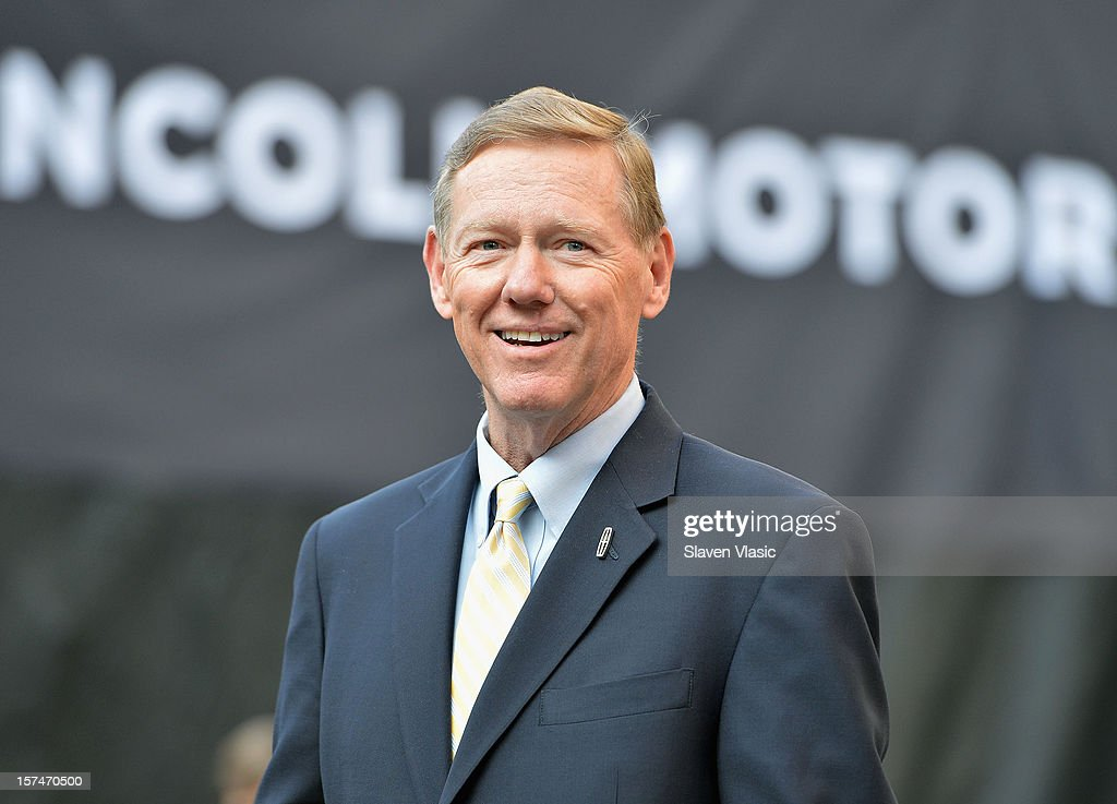 President and CEO of Ford Motor Company <a gi-track='captionPersonalityLinkClicked' href=/galleries/search?phrase=Alan+Mulally+-+Businessman&family=editorial&specificpeople=226958 ng-click='$event.stopPropagation()'>Alan Mulally</a> attends Ford Lincoln unveiling the new brand direction Lincoln with Emmitt Smith at Lincoln Center on December 3, 2012 in New York City.